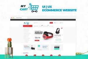Portfolio for design advanced UI website layout
