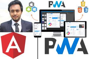 Portfolio for angular 8 SPA with PWD, API,highcharts