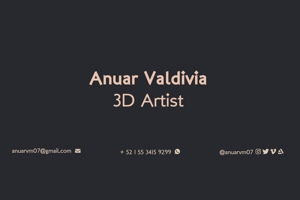 Portfolio for 3D Animator / 3D Artist