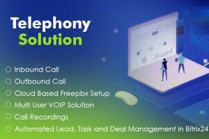 Portfolio for Bitrix24,CRM Telephony