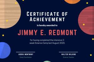 Portfolio for I can design all kinds of certificates
