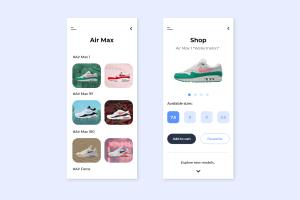 Sneakers Shop App UI