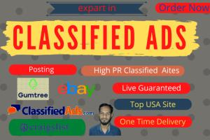 Portfolio for I will classified ads posting manually