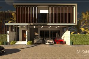 Portfolio for design and render 3d exteriors, interior