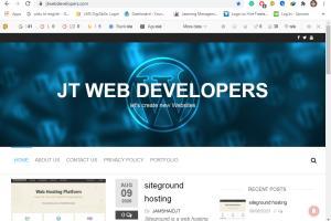 Portfolio for WordPress Web developer