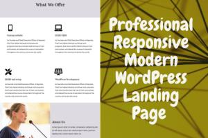 Portfolio for WordPress Landing page design
