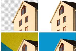 Portfolio for change or remove photo background