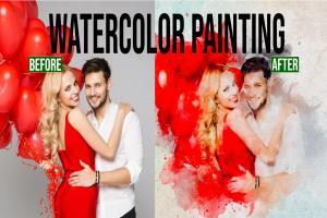 Portfolio for Paint your portrait watercolor painting