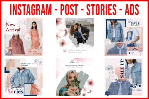 Portfolio for Design instagram post ads or stories
