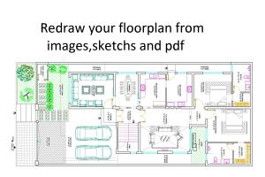 Portfolio for I will redraw floor plan from pdf,images