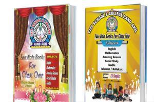 Portfolio for School Book Cover Page Design