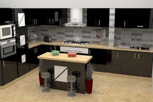 Portfolio for 3d kitchen designer