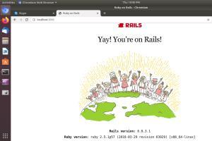 Portfolio for Rails web application framework Setup