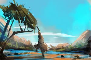 Portfolio for 3D environment art or 2D illustrations
