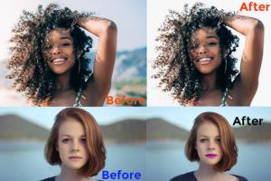 Portfolio for Hair masking with background removing