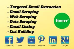 Portfolio for Creat niche & region targeted email list