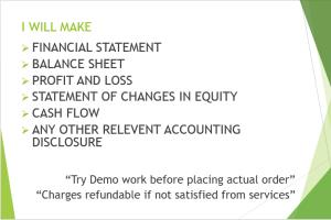 Portfolio for Financial Statement, Management Accounts