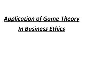 Portfolio for Business Writing - Game Theory