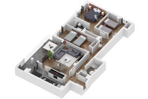 Portfolio for Floor plan and 3D floor plan design