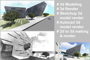 Portfolio for 3D modeling and image render