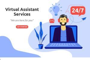 Portfolio for virtual assistant data entry logo design
