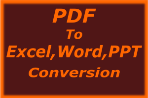 Portfolio for PDF Related Services and File Conversion