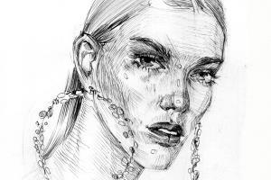 Women's pencil portraits