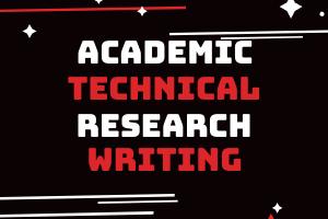 Portfolio for Academic/Technical Research Writing