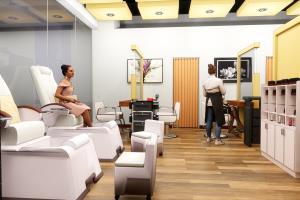 3d interior visualization (Salon)
