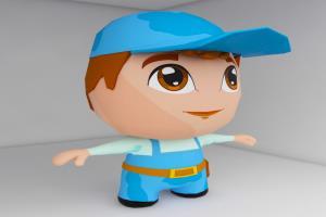 Portfolio for 3d pro model texture render