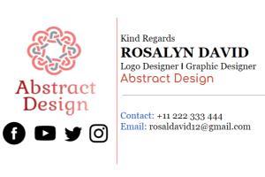 Portfolio for Professional Clickable Email Signature