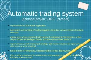 Portfolio for Automated trading software development