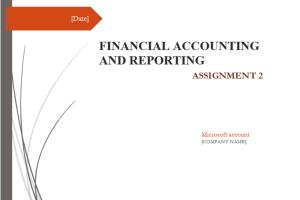 Portfolio for Financial Statements & Reports
