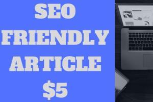 Portfolio for SEO Friendly Article Blog Post