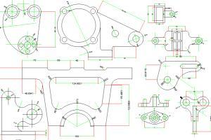 Portfolio for cad mechanical drawing