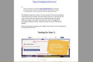 Portfolio for 5 users to do usability testing
