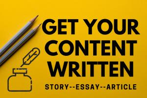 Portfolio for Content, article, essay, story writer