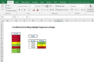 Portfolio for Microsoft Excel - Conditional Formatting
