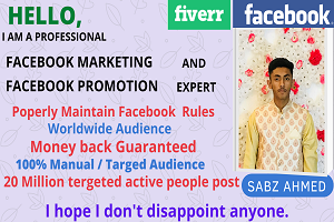 Portfolio for Social marketing and Facebook promotion
