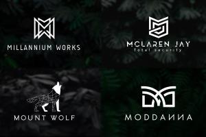 Portfolio for professional flat minimalist logo design