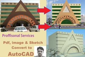 Portfolio for I will Convert PDF & Sketch to AutoCAD