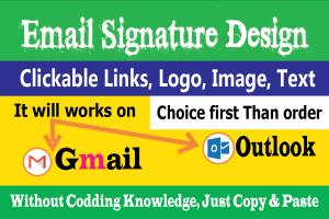Portfolio for Clickable Gmail and Outlook Signature