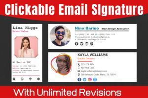 Portfolio for Email Signatures