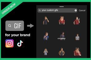 Portfolio for Create a brand Giphy