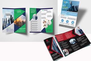 Portfolio for bi fold tri fold brochur & flyer designs