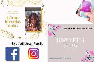 Portfolio for Exceptional Instagram & Facebook Posts