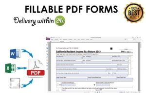 Portfolio for I will create and edit fillable PDF form
