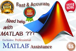Portfolio for assist you with your matlab programming