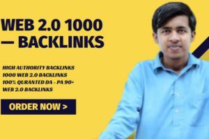 Portfolio for I will do 1000 web 2 0 backlinks