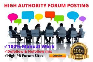 Portfolio for High authority DA forum posting backlink